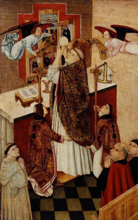 The Mass of Saint Martin of Tours / La misa de San Martín de Tours // 2nd half 15th century // Anonymous Castilian // Museo de Bellas Artes de Bilbao