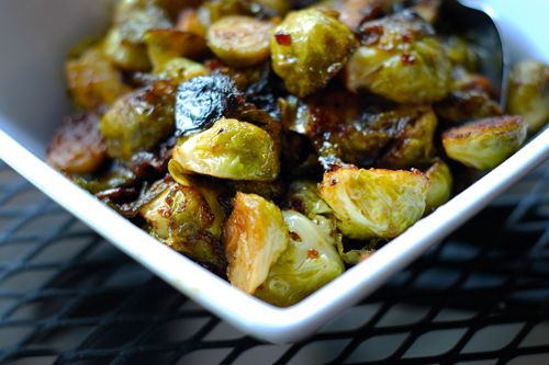 Roasted Brussels Sprouts and Bacon (favorite new food we've tried since starting whole 30!)