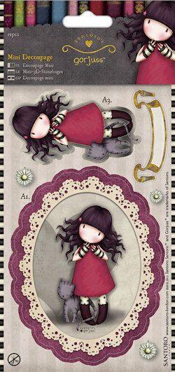 Purfect Love Gorjuss Mini Die Cut Decoupage Twin by Pituchasplace