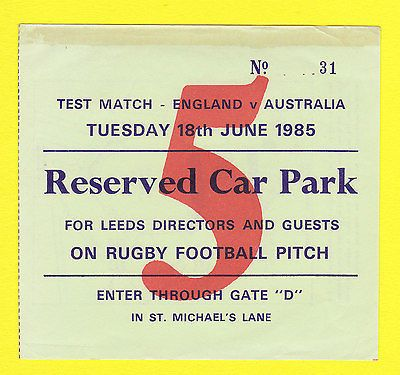 Rare #cricket #ticket - england v #australia - headingley  -  18th  june  1985,  View more on the LINK: http://www.zeppy.io/product/gb/2/252135015677/