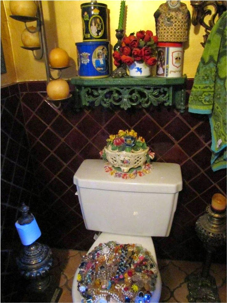 Best Eclectic Kitsch Images On Pinterest A Well Bohemian - Boho bathroom decorating ideas