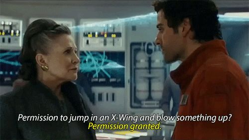 Leia and Poe I love their relationship.