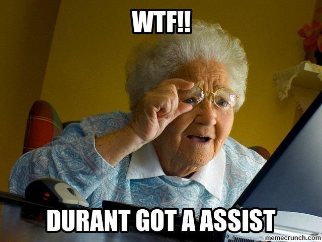 Durant got an assist ? #basketballmemes
