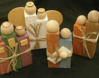 Rustic Wooden Nativity