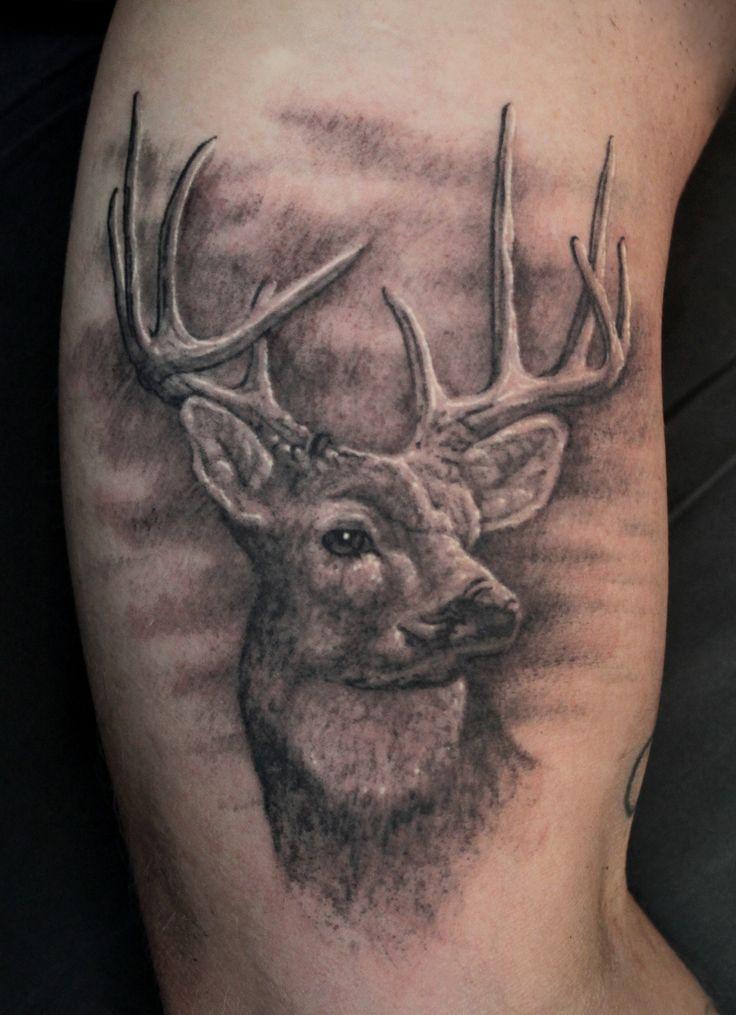 deer hunting tattoos deer head tattoo tumblr tattoos pinterest deer hunting tattoos. Black Bedroom Furniture Sets. Home Design Ideas