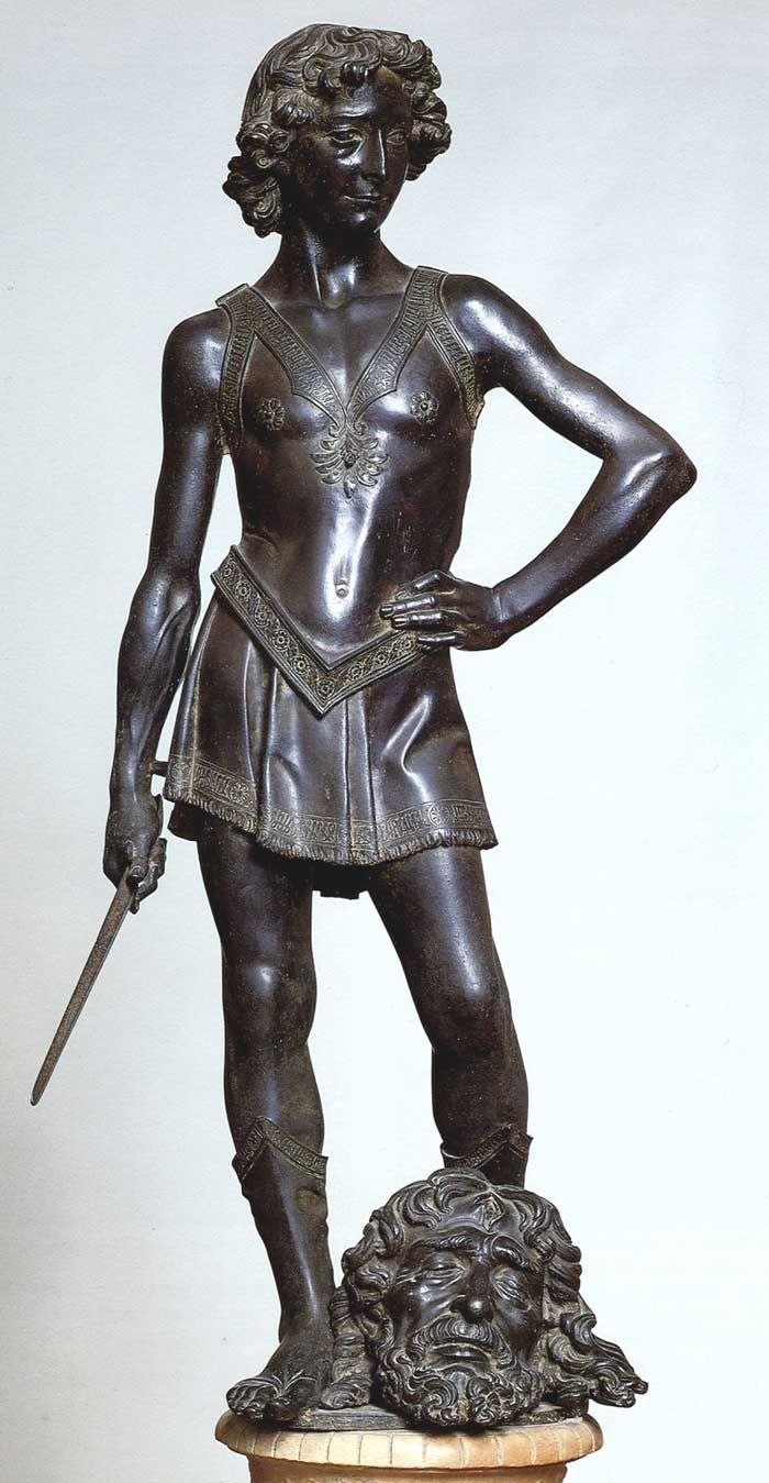 Andrea del Verrocchio. Another fine young David. Gli