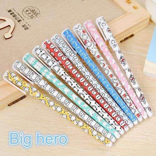 10 pcs/pack Color gel pen Cartoon animal Hello Kitty Sweet 0.38mm pen Stationery Office school supplies F308