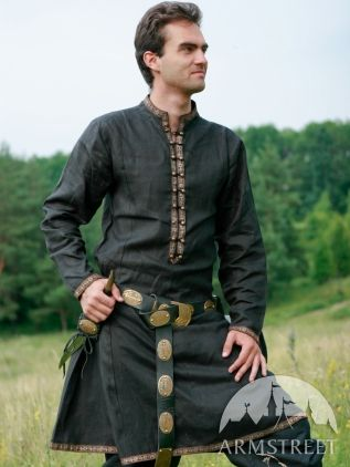 Medieval or elven prince fantasy natural flax linen tunic for sale :: by medieval store ArmStreet $75