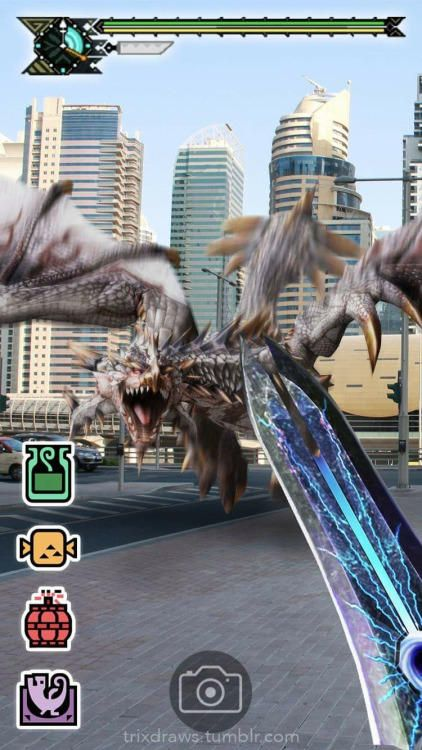 Monster Hunter Go - Oh my gosh imagine if that was real! People would look so dorky running around. XD