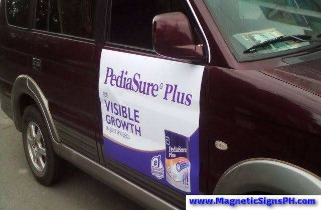 Customized Magnetic Sign Pediasure Plus Customised Vans