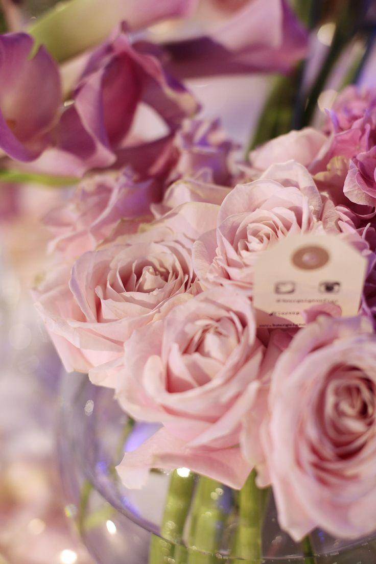 Premios de Moda Telva 2013 - Centro de flores con rosas, calas y hortensias | Bourguignon Floristas