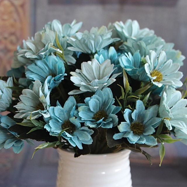 1 Bunch Yapay Sahte Gelin Papatya Çiçek Buketi Ev Düğün Dekorasyon