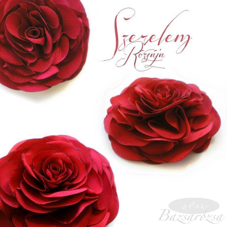 rózsa, vörös, szerelem, Bazsarózsa, kitűző, fejdísz, hajdísz, esküvő, feminin, romantikus