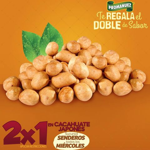 ¿Quieres #cacahuates #japoneses? Ven por ellos a #Promanuez sucursal #Senderos ¡Están deliciosos! :D y los tenemos en #promoción de #2x1