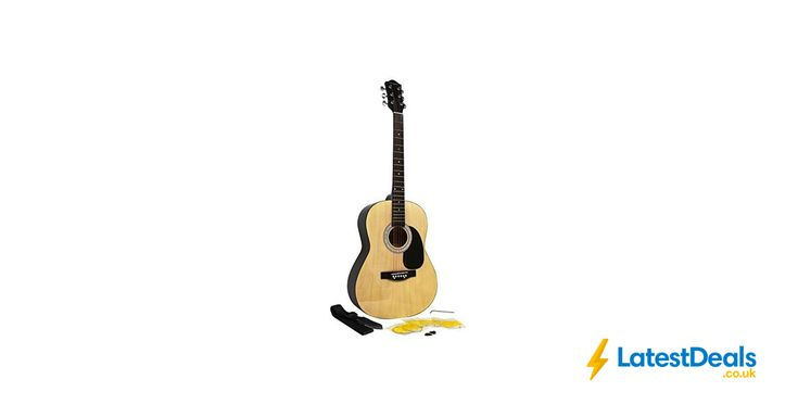 Martin Smith W-100 Acoustic Guitar Package with Strings, Plecs, Strap - Natural, £39.99 at Amazon