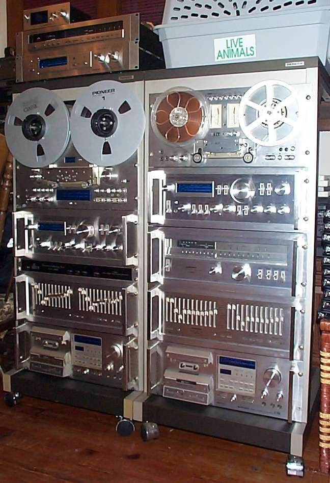 vintage classic pioneer spec rack silver faced audio gear. Black Bedroom Furniture Sets. Home Design Ideas
