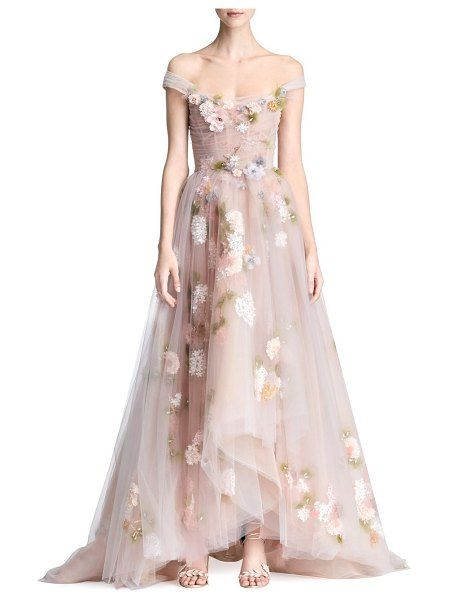 123b9b29 Marchesa A-Line Floral Gown | ❤ The Wedding Shop ❤ | Floral ...
