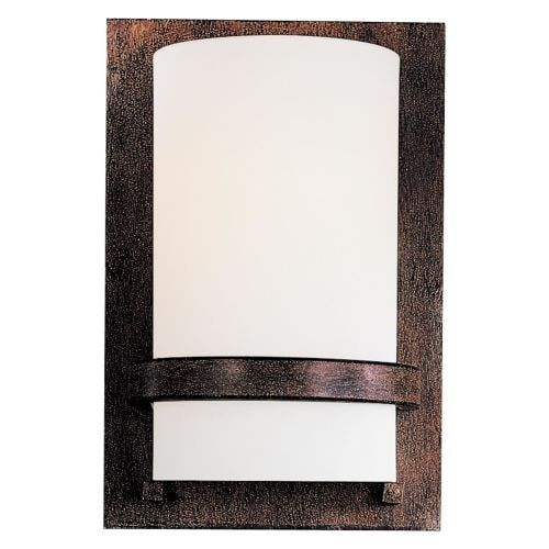 Minka Lavery ML 342-PL 1 Light 6.75 Width ADA Wall Sconce with Fluorescent Lamping, Iron Oxide