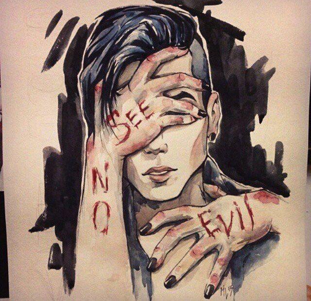 Автопортрет: Энди Бирсак #art #арт #andybiersack #эндибирсак #picture