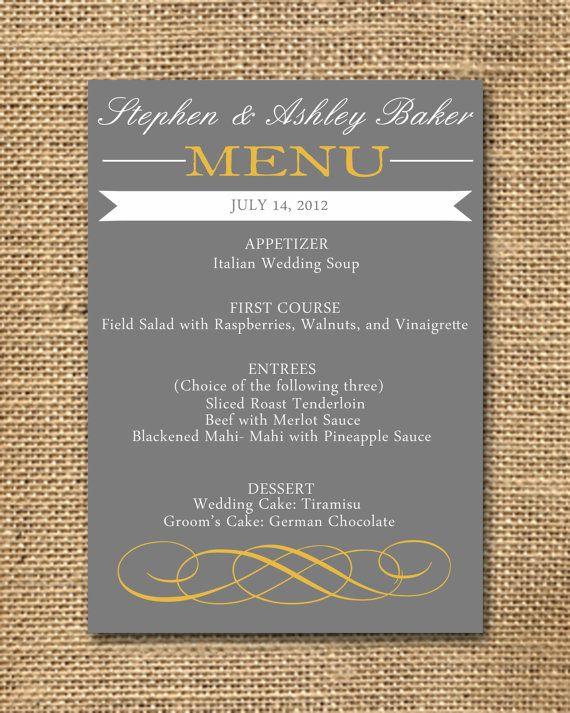 tone down the brightness of yellow with cool grey invitations