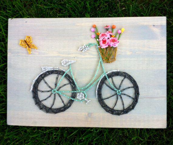 Bicycle Art / Bicycle Wall Art Bicycle String Art Retro