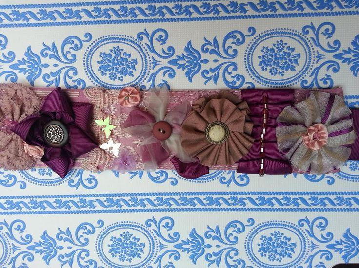 cinturón textil en tonos suaves