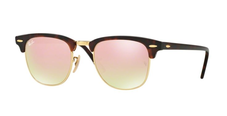 Ray-Ban RB3016-990/70 Shiny Red and Havana Clubmaster Sunglasses