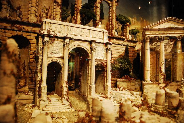 Scenes Of Old Roman Ruins 96