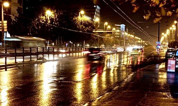Syngrou street at night