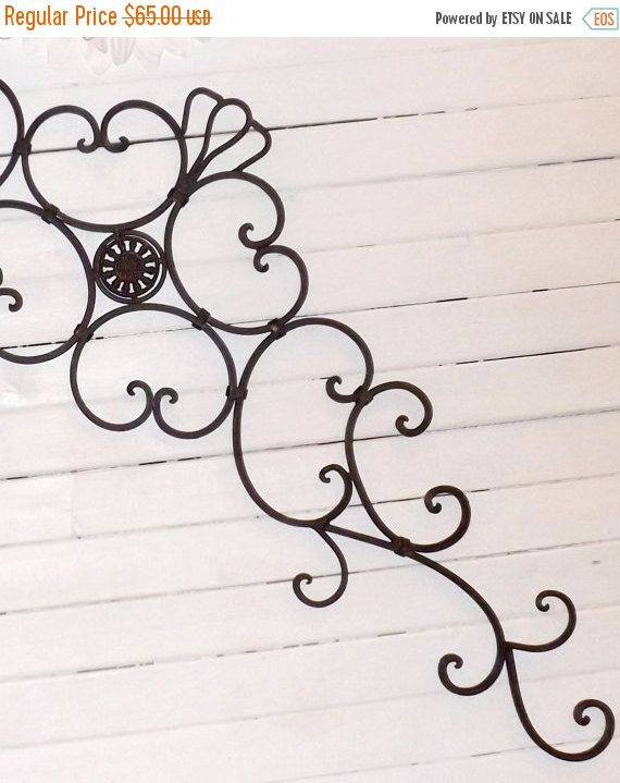 ON SALE Paint to order////Wrought Iron / Iron Headboard / Wrought Iron Headboard / Bedroom Wall Decor / Kitchen Decor