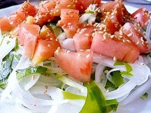 「健康重視!ワカメと玉ねぎ&トマトの中華風サラダ☆」わかめ・玉ねぎ・トマト、其々の栄養で体の中からお肌まで健康になりましょう!【楽天レシピ】