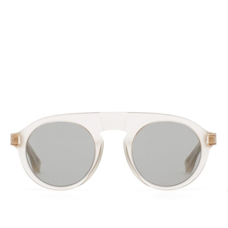 MMRAW003 sunglasses from Mykita collection in collaboration with Maison Margiela in champagne