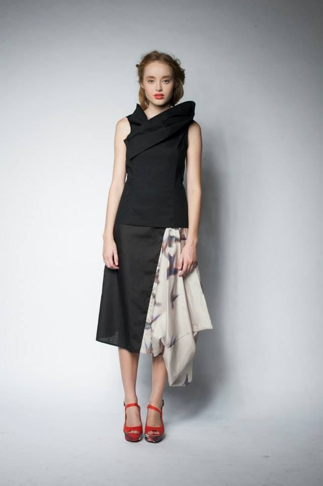 Robin top and plume skirt