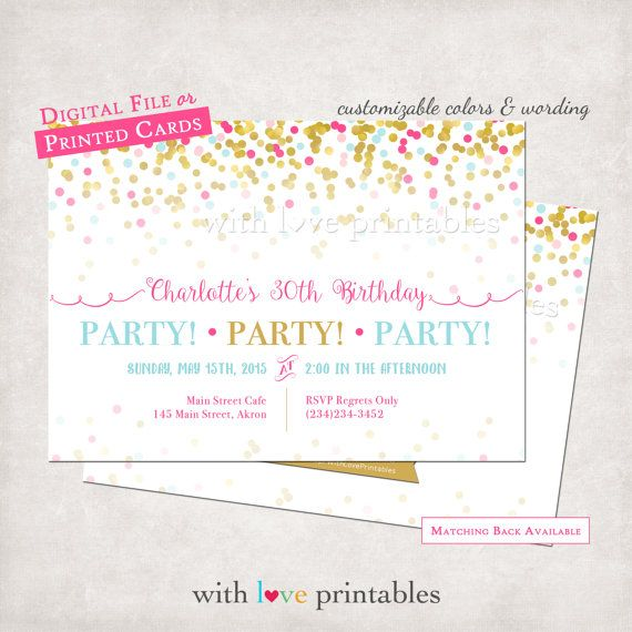 71 best invitations images on pinterest boy girl twins siblings confetti pink adult birthday invitations baby shower bridal wedding custom design digital file print jpg printed printable woman girl filmwisefo