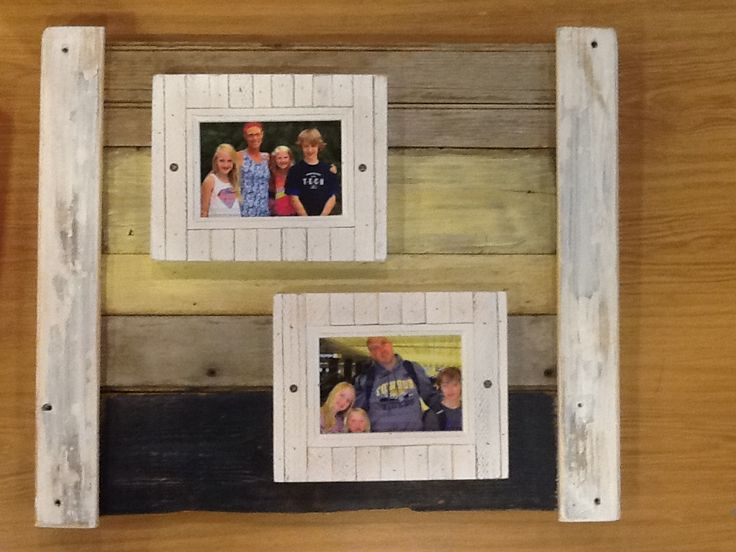 all chesapeake bay driftwood for the frame added the photo frames from michaels