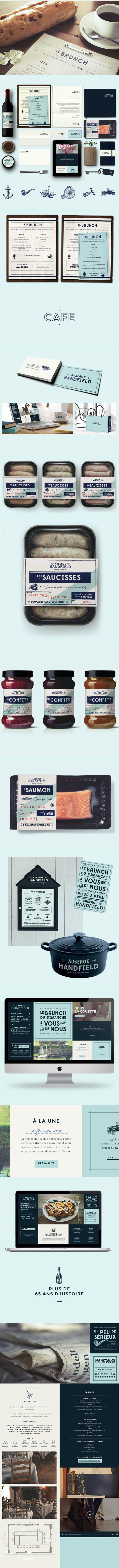 Auberge Handfield #identity #packaging #branding PD