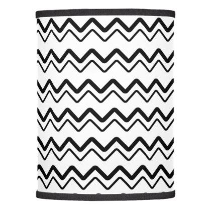 Stylish white and black chevron lamp shade - patterns pattern special unique design gift idea diy