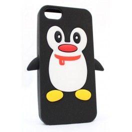 iPhone 5 musta pingviini suojakuori.