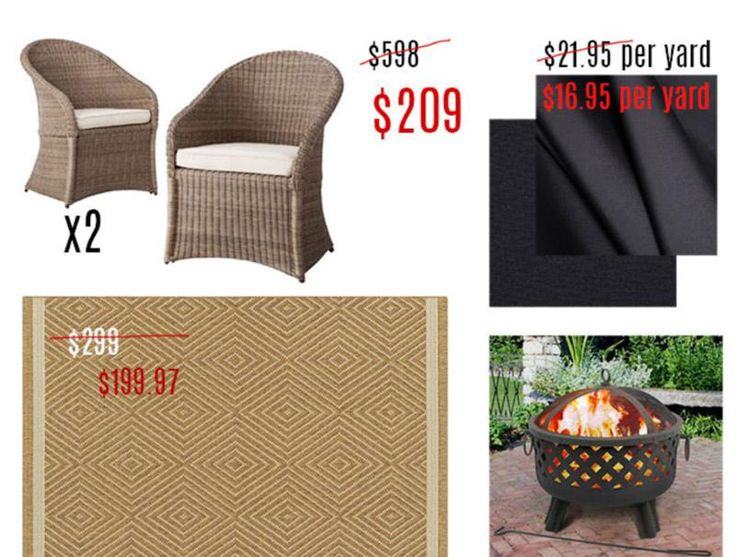 Great finds: Memorial day sale shopping for a patio spruce-up