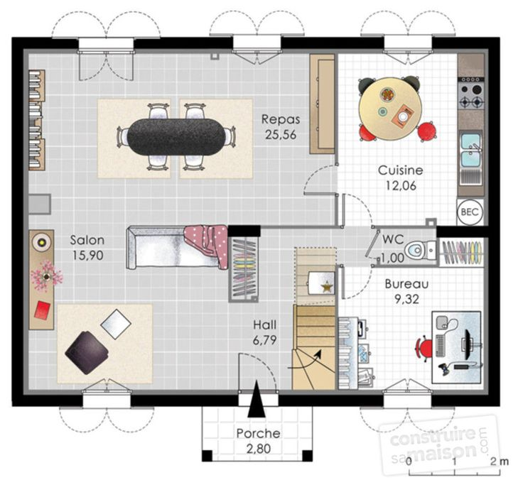 8 best Plan maison rectangle 20 août images on Pinterest Projects - Logiciel Pour Dessiner Plan Maison Gratuit