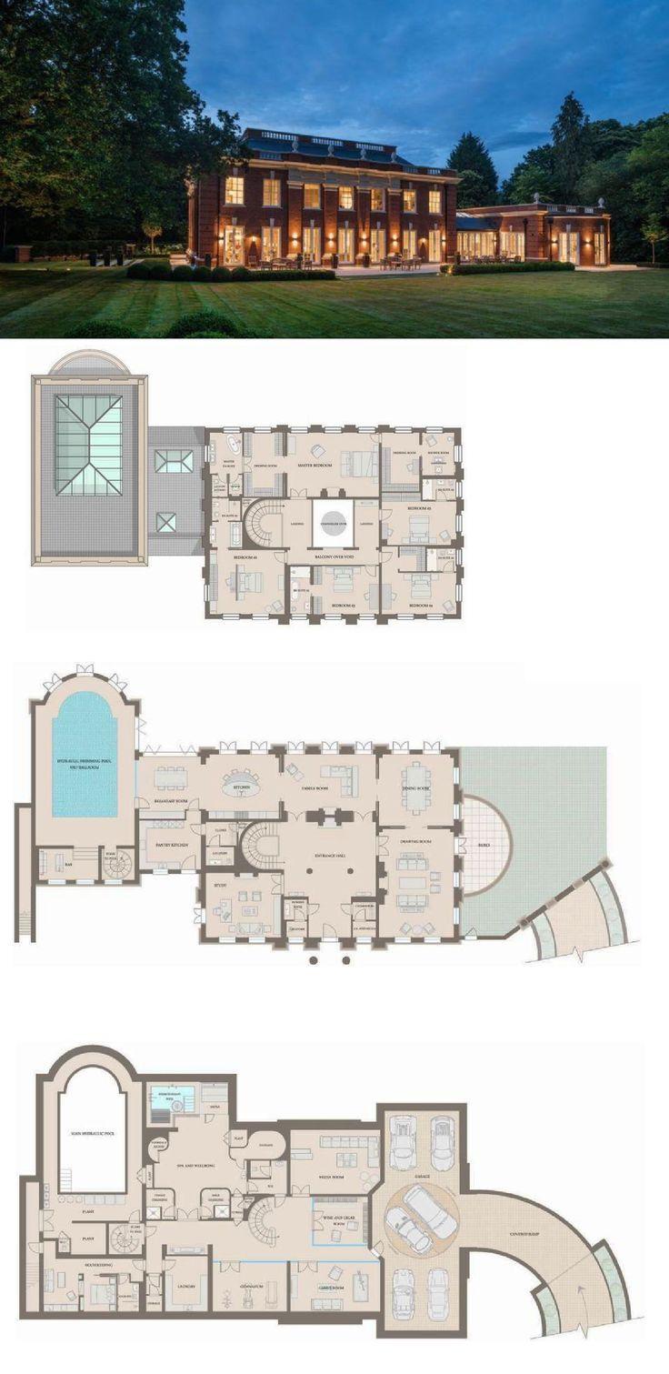 Whitelands – A Stately Brick Mansion In Surrey, England (FLOOR PLANS)