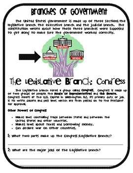 Here's a nice cooperative group activity for studying the three branches of government.