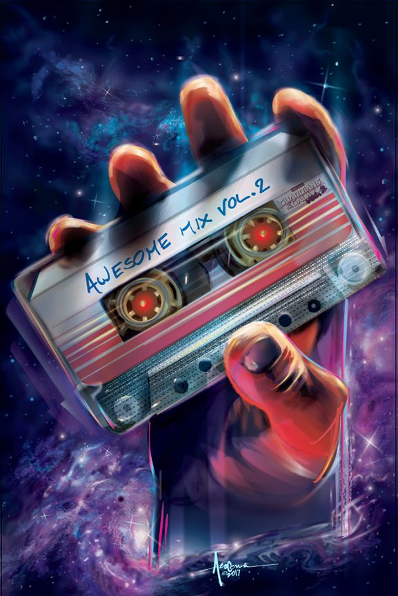 Guardians of the Galaxy - Awesome Mix Vol. 2 Created by Orlando Arocena / Find this Artist on Dribbble - Facebook - Pinterest