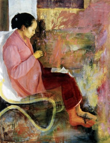 S. Sudjojono - Istriku (Ibu Menjahit)