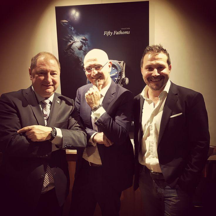 Marc Hayek and Alain Delamuraz @Blancpain1735 @Baselworld #15years
