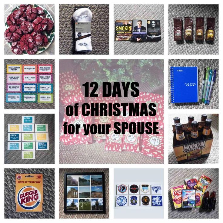 Gift Ideas For The 12 Days Of Christmas: 12 Days Of Christmas For Your Spouse