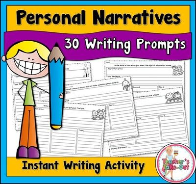 personal narrative writing prompts Narrative / creative writing prompts narrative writing, sometimes called creative, is the telling of an event or a story some of the most common forms of narrative writing include short stories, novels and autobiographies.