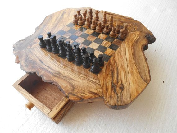wooden chess board , wooden chess , woodworking , olivewood chess wodenCraftGift in Lillebonne, France on Etsy