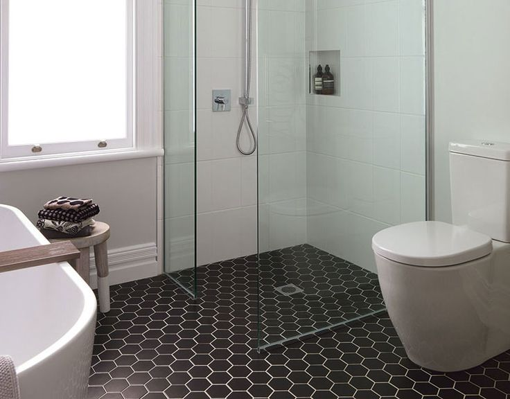91 Best Hexagon Tile Looks Images On Pinterest Bathroom Half Bathrooms And Bathroom Ideas