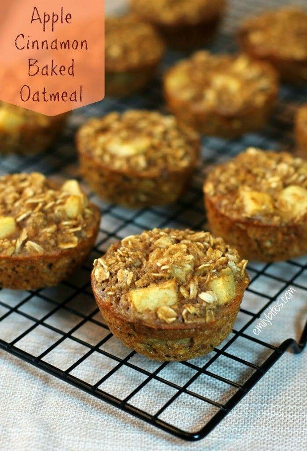 Apple Cinnamon Baked Oatmeal Singles